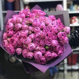 Монобукет пионовидных роз