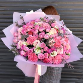 Премиум букет с пионовидными розами