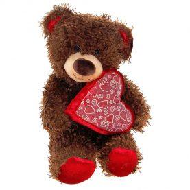 Медвежонок Чиба с сердцем, 28см