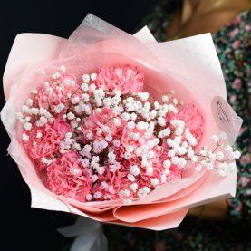 Букет розовых диантусов