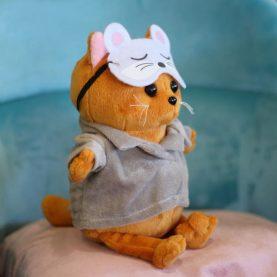 кот «Бисквит», в пижаме, 22см