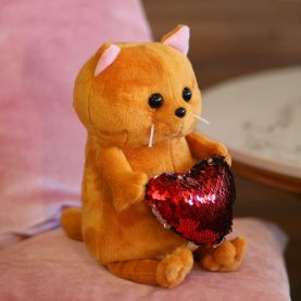 кот «Бисквит», с сердцем, 22см