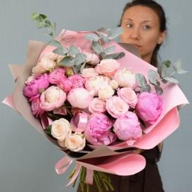 Букет «Влюблённый фламинго»