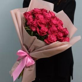 Букет малиновых роз (21 шт)