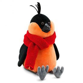 Снегирь в красном шарфе, 20 см