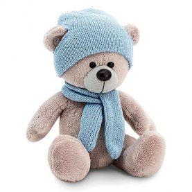 «Медведь Топтыжкин» шапка, шарф, цвет серый 25 см