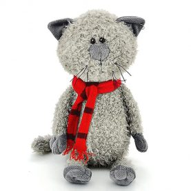 «Кот Обормот» в шарфике, 20 см